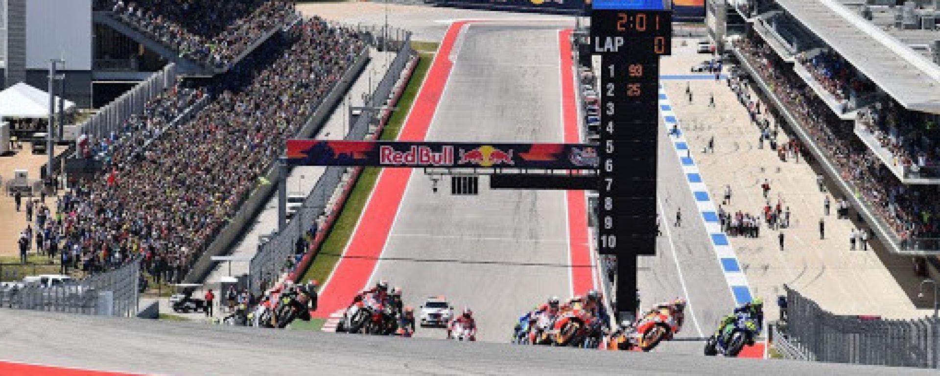 MotoGP Stati Uniti 2018, Austin, partenza