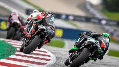 MotoGP Stiria 2020, Spielberg: Franco Morbidelli e Fabio Quartararo (Yamaha) costretti a inseguire