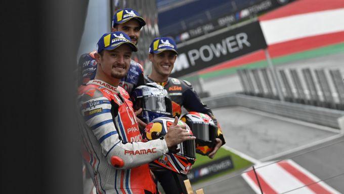 MotoGP Stiria 2020, Spielberg: Jack Miller, Miguel Oliveira e Pol Espargaro sul podio