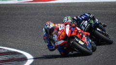 MotoGP Test Misano 2019, Maverick Vinales (Yamaha Factory Racing) segue Jack Miller (Ducati Pramac)