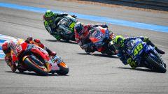 MotoGP Thailandia 2018, Buriram: Dovizioso, Rossi, Marquez e Crutchlow