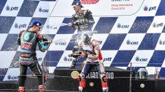 MotoGP Thailandia 2019, Buriram: Marc Marquez (Honda), Fabio Quartararo e Maverick Vinales (Yamaha)
