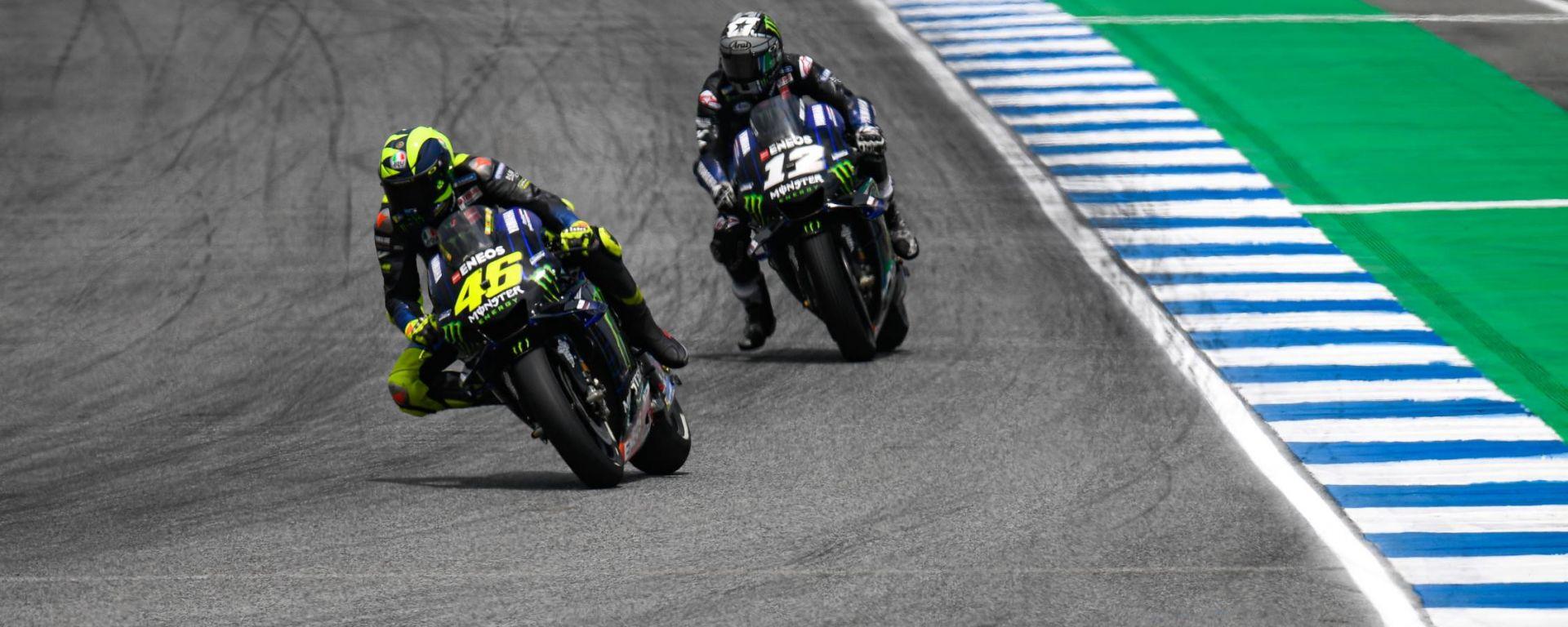MotoGP Thailandia 2019, Buriram: Valentino Rossi e Maverick Vinales (Yamaha)