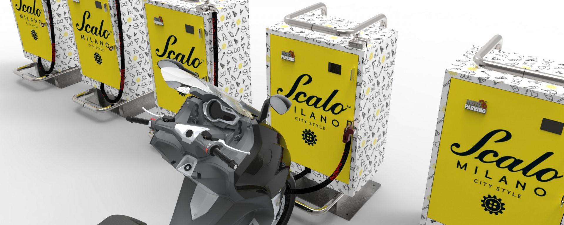 MotoParking: il debutto italiano è al centro commerciale Scalo Milano