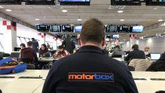 MotorBox nella sala stampa del Circuit de Catalunya durante i test F1 di Barcellona