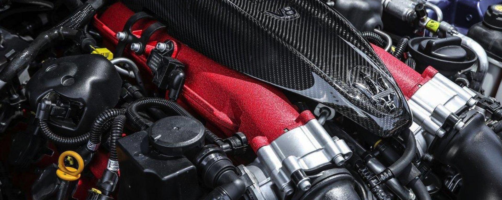 Motore 3,8 litri biturbo V-8 creato da Ferrari per Maserati