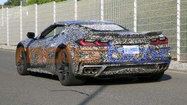 Muletto della Chevrolet Corvette E-Ray hybrid, per la Corvette elettrica c'è tempo