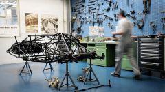 Museo Mercedes di Stoccarda: il telaio della Mercedes 300SL