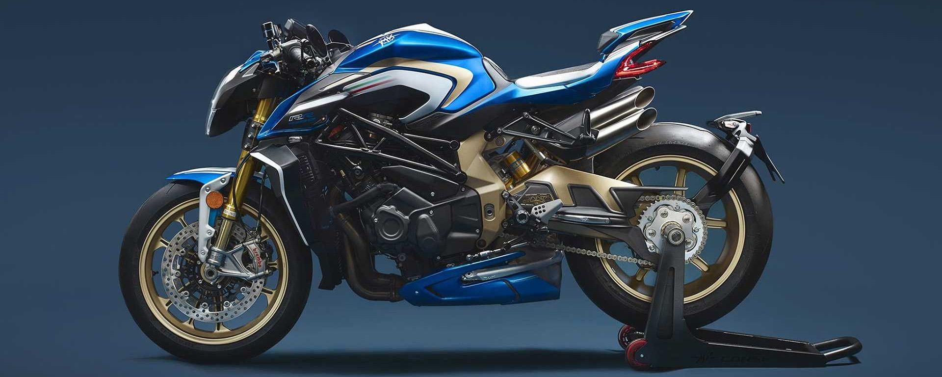 MV Agusta Brutale 1000 RR Serie Oro White and Blue M.L.