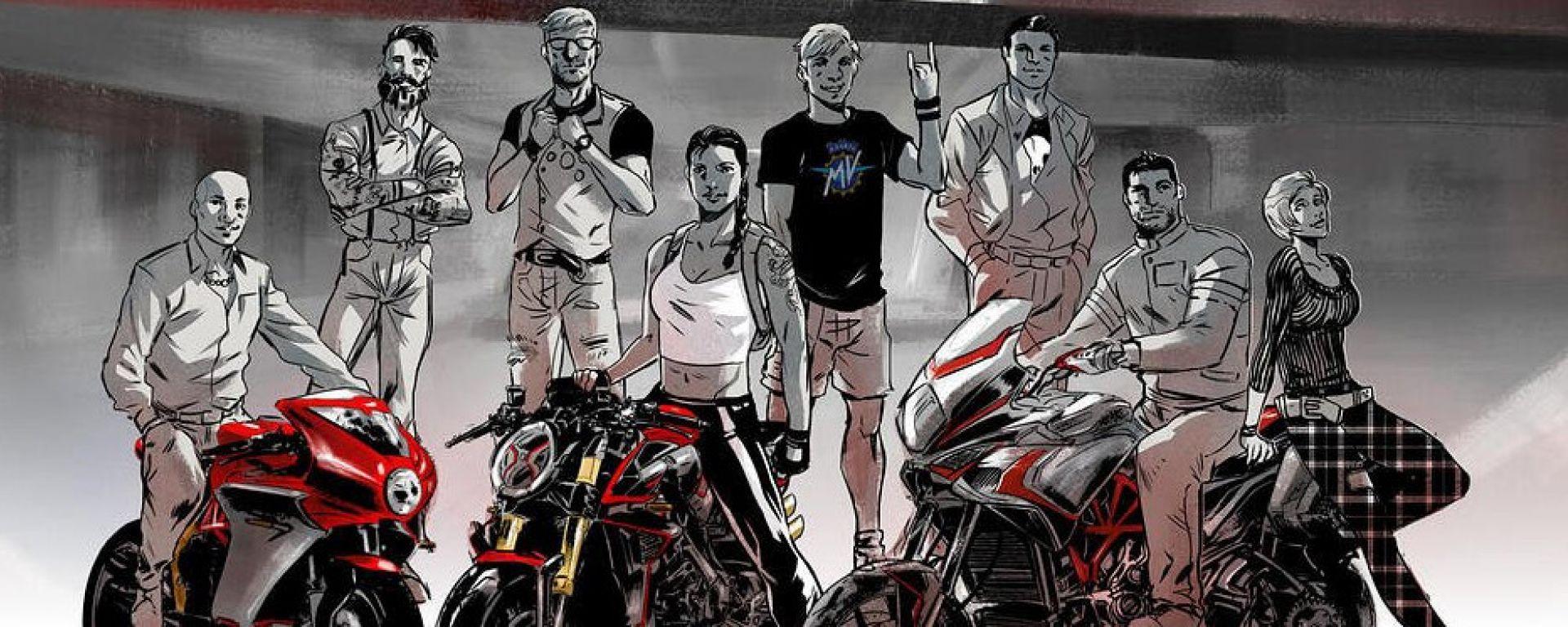 MV Agusta diventa un fumetto: il primo episodio con la Turismo Veloce
