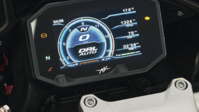 MV Agusta Turismo Veloce 2021: il display TFT