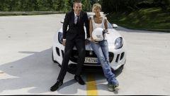 Nadia Toffa in posa col direttore di Motorbox Mario Cornicchia