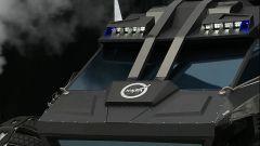 NASA Mars Rover Concept Vehicle: dettaglio del parabrezza