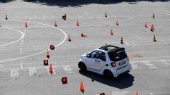 Nello slalom, la Smart ha dimostrato tutte le sue ottime qualità