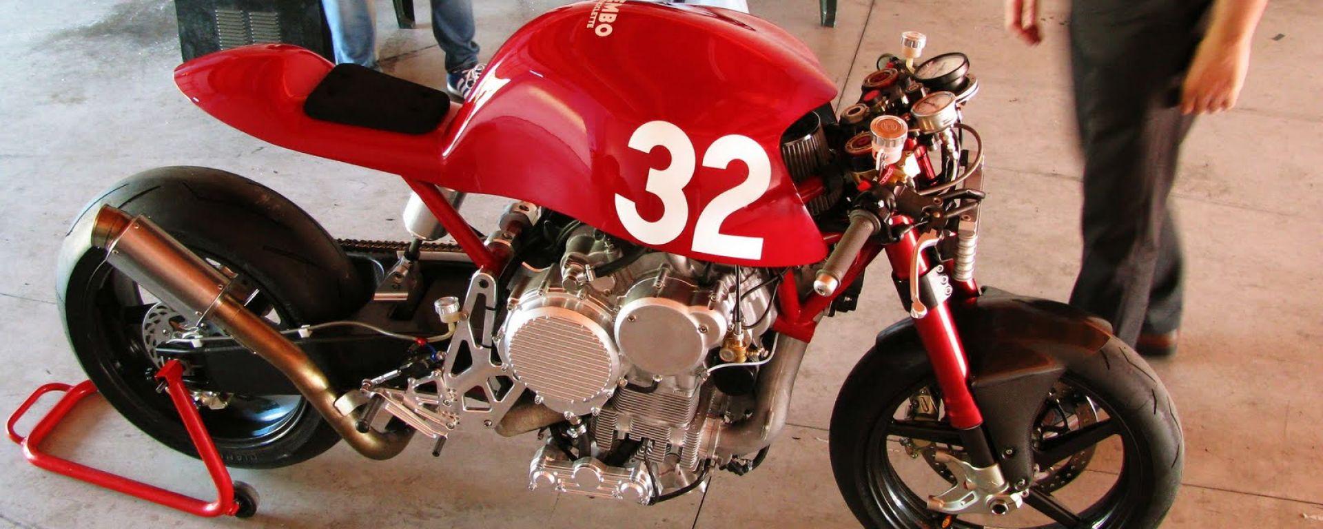 Nembo 32, la moto con il motore a testa in giù