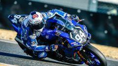 Niccolò Canepa in azione con la R1 del team GMT94