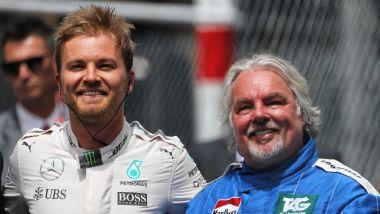 Nico e Keke Rosberg, protagonisti di una celebrazione nel Gp di Montecarlo 2018
