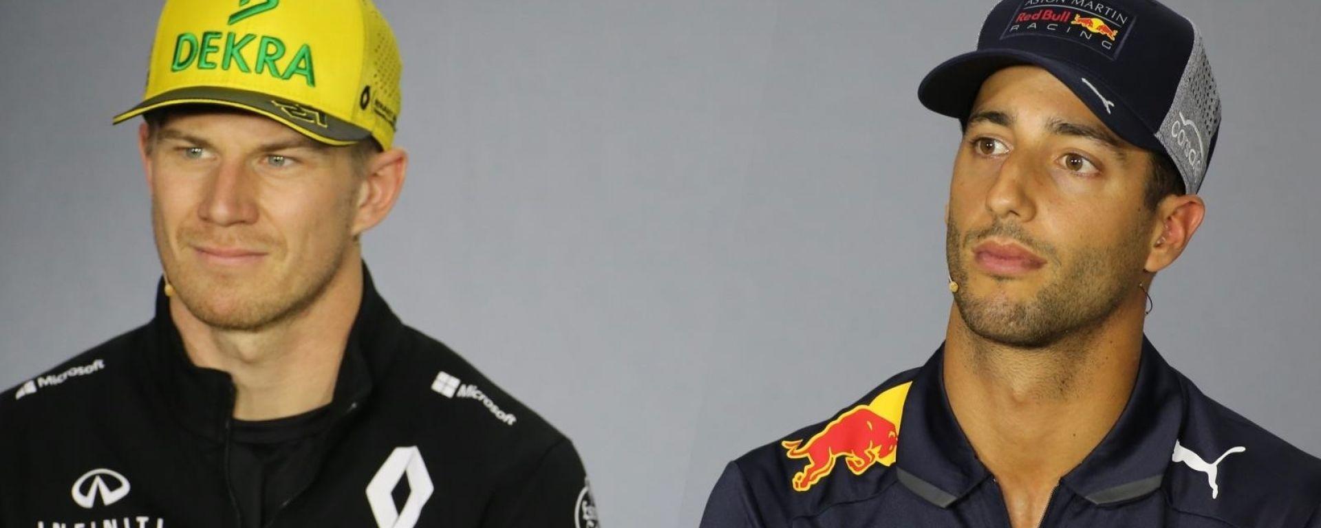 Nico Hulkenberg e Daniel Ricciardo, il prossimo anno compagni in Renault