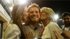 Nico Rosberg con mamma e fidanzata - F1 GP Abu Dhabi
