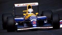 Nigel Mansell con la Williams-Renault FW14B del 1992