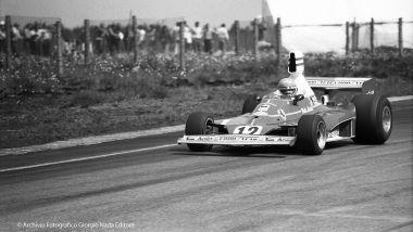 Niki Lauda al GP di Svezia del 1975 con la Ferrari 312T