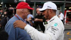 Niki Lauda e Lewis Hamilton