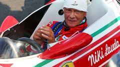 Niki Lauda prova la sua vecchia 312T nel 2014 al Red Bull Ring