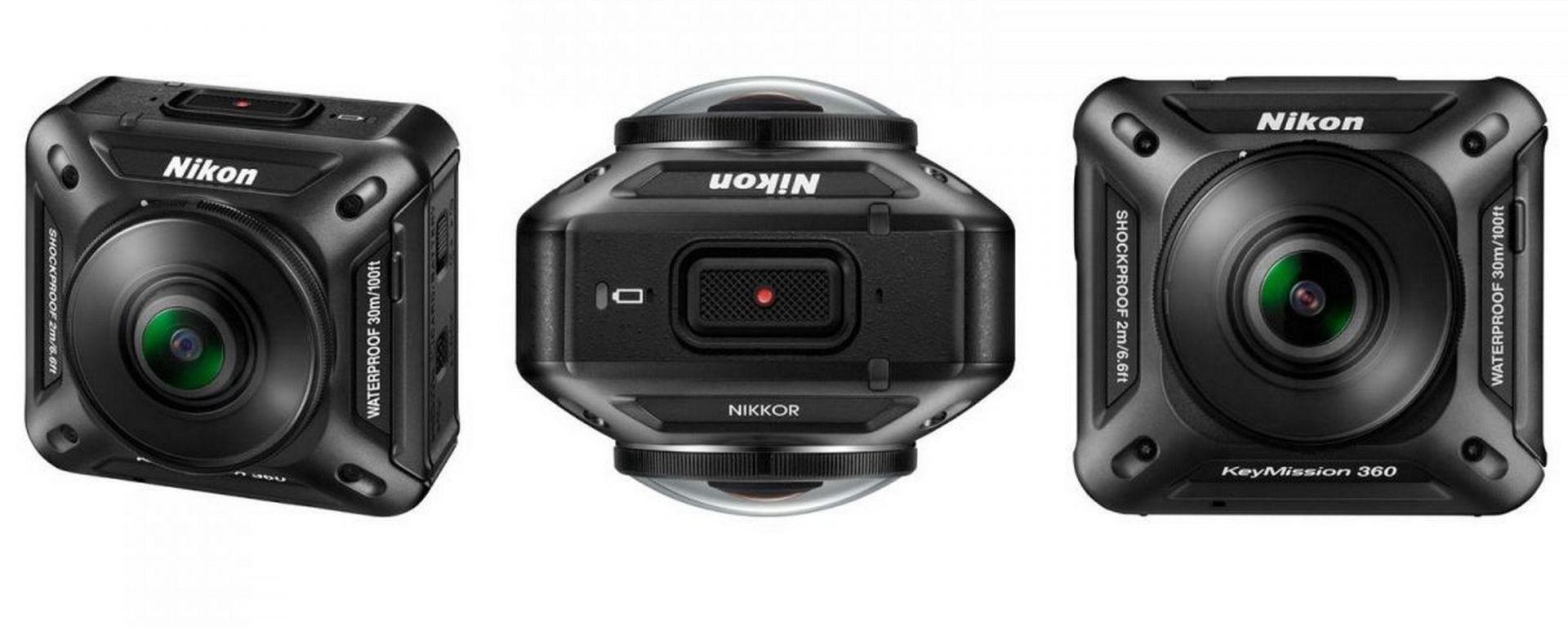 Nikon KeyMission 360: l'action cam a 360°