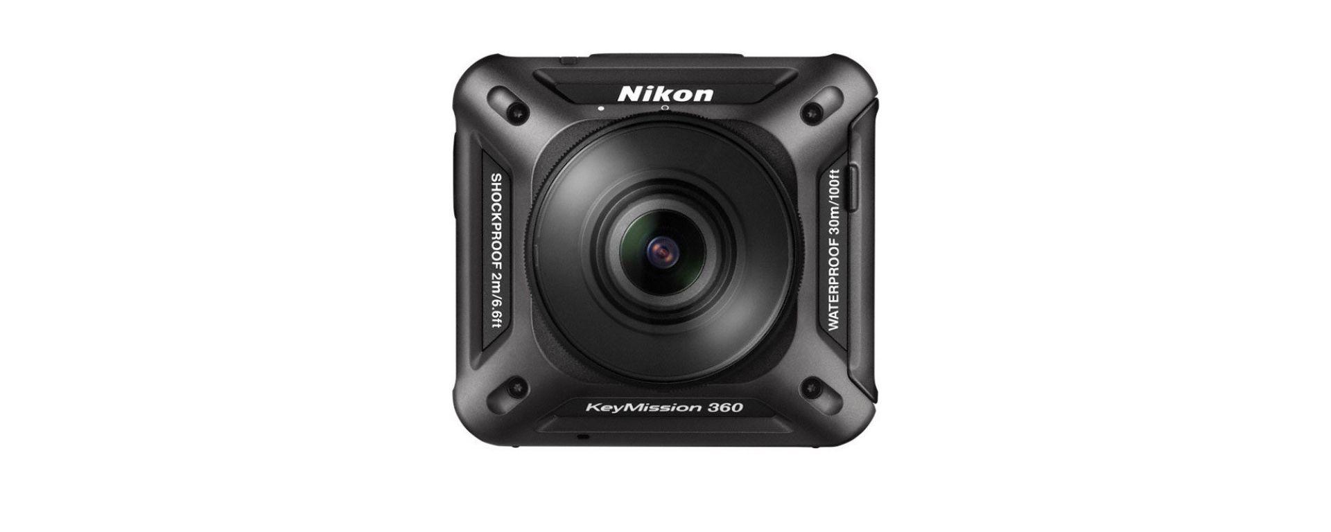 Nikon KeyMission 360: vista frontale
