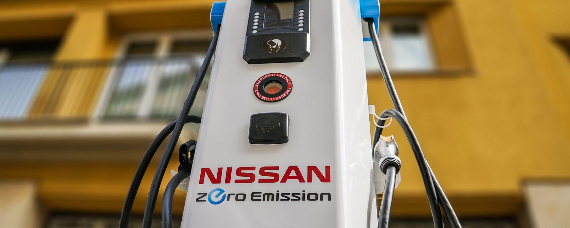 Nissan: 12 colonnine di ricarica rapida per Milano (e per la Champions)