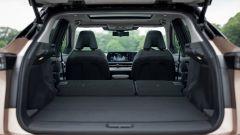 Nissan Ariya 2020: il bagagliaio con i sedili posteriori reclinati