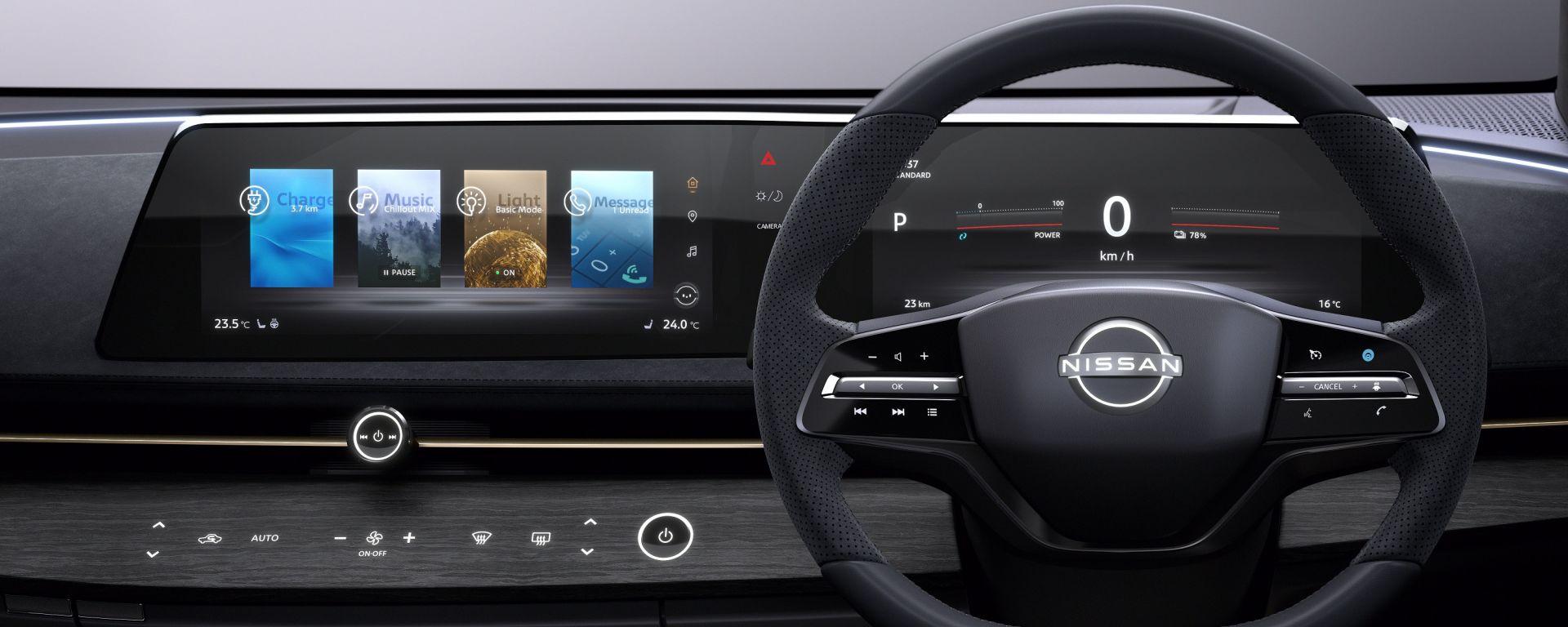 Nissan Ariya 2020: il display sarà curvo