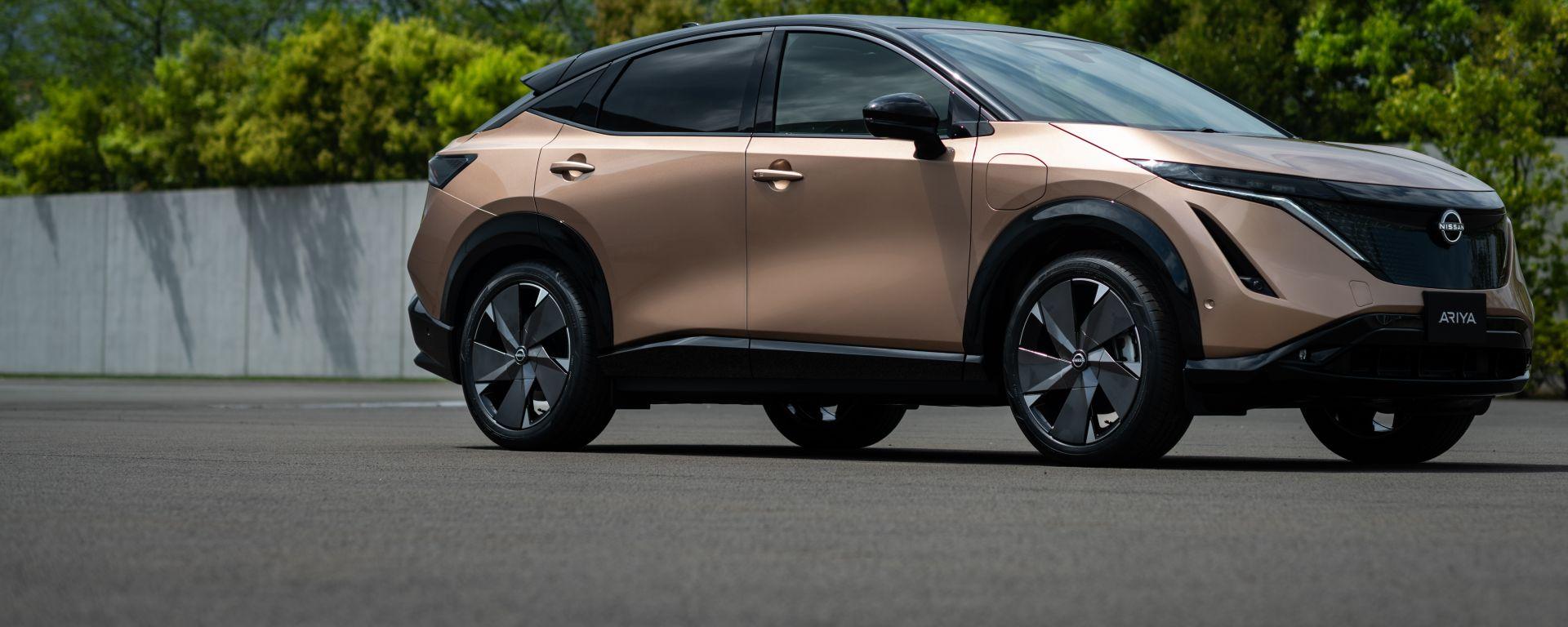 Nissan Ariya, debutto rimandato causa crisi seminconduttori