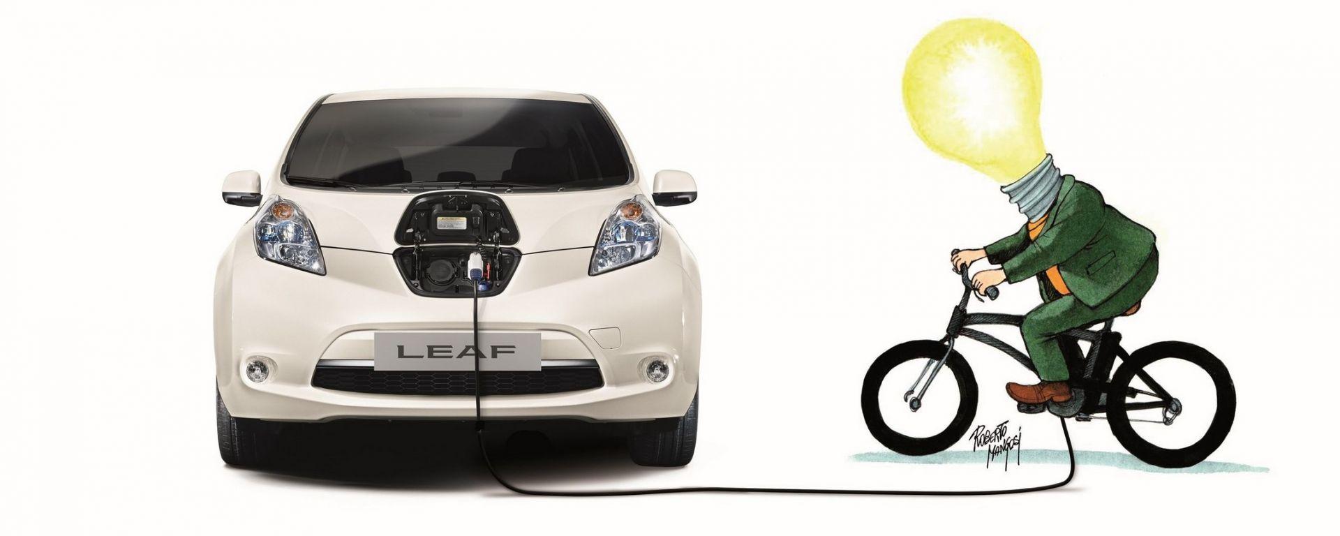 Nissan e DinamoBike: pedalando si guadagna