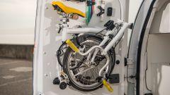 Nissan e-NV200 WORKSPACe: c'è anche uno spazio per sistemare una bici pieghevole