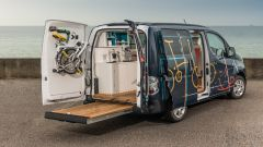 Nissan e-NV200 WORKSPACe: grazie al pianale allungabile aumenta la superficie calpestabile