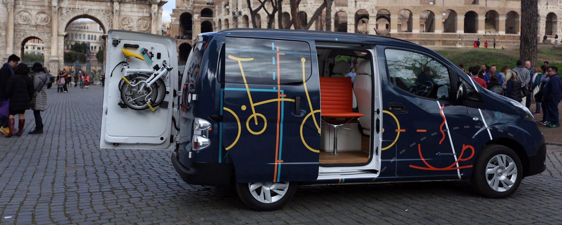 Nissan e-NV200 WORKSPACe: il primo ufficio mobile 100% elettrico