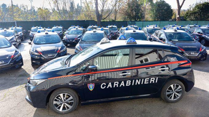 Nissan e Subaru per i Carabinieri: la dotazione di Leaf