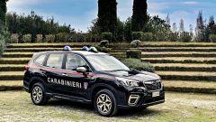 Nissan e Subaru per i Carabinieri: la Forester di 3/4 anteriore