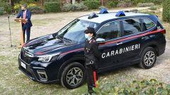 Nissan e Subaru per i Carabinieri: un momento della cerimonia