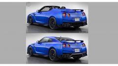 Nissan GT-R cabrio: prima e dopo il rendering
