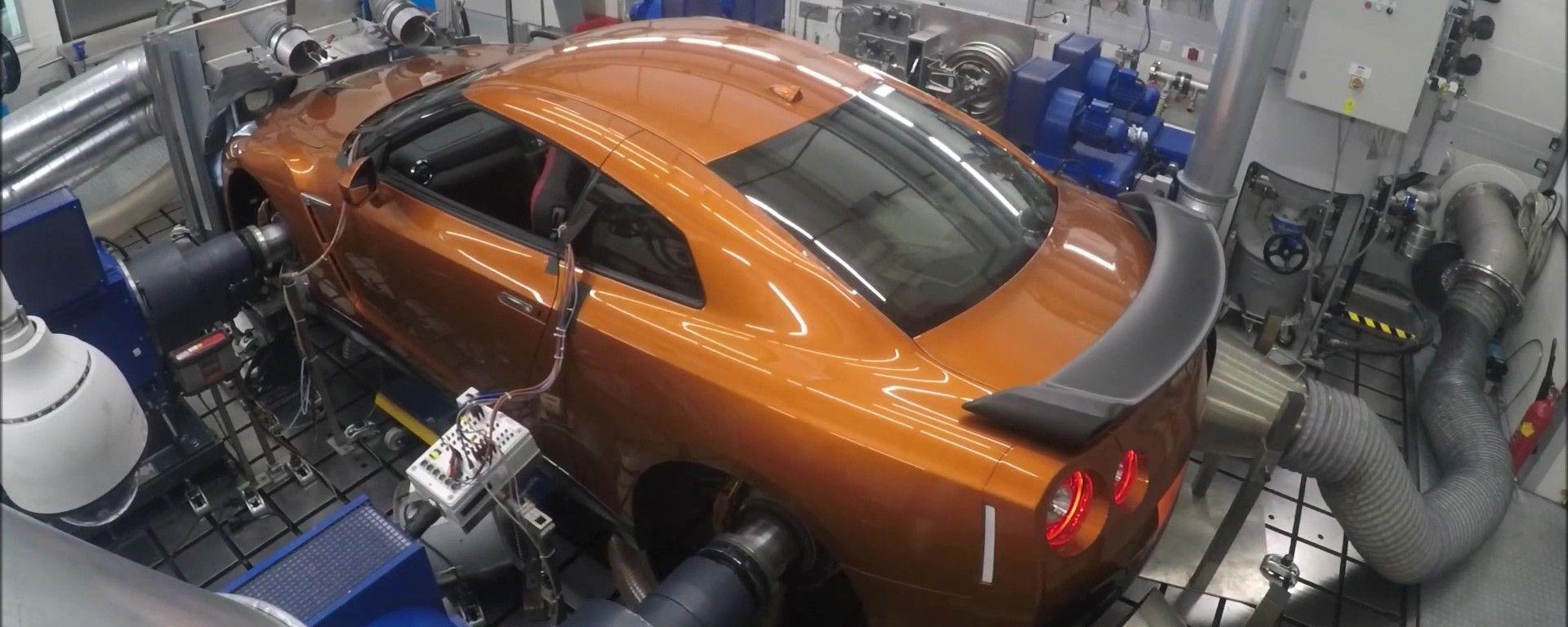 Nissan GT-R50, i test sul banco di prova