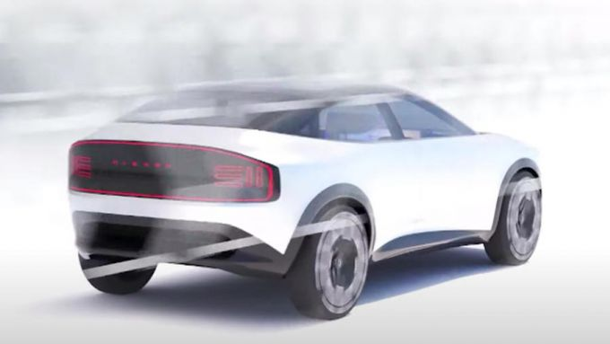 Nissan: il render grafico del nuovo crossover EV