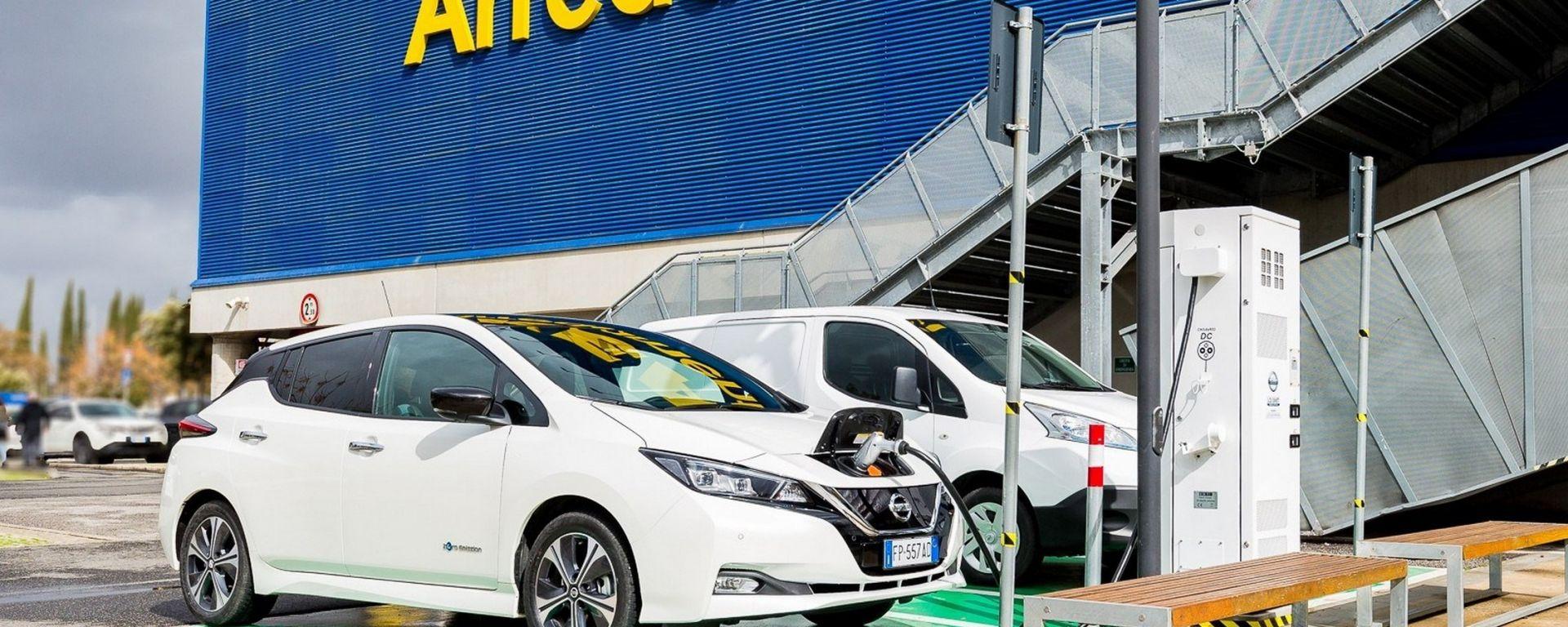 Nissan Colonnina Di Ricarica Elettrica Allikea Di Roma Anagnina