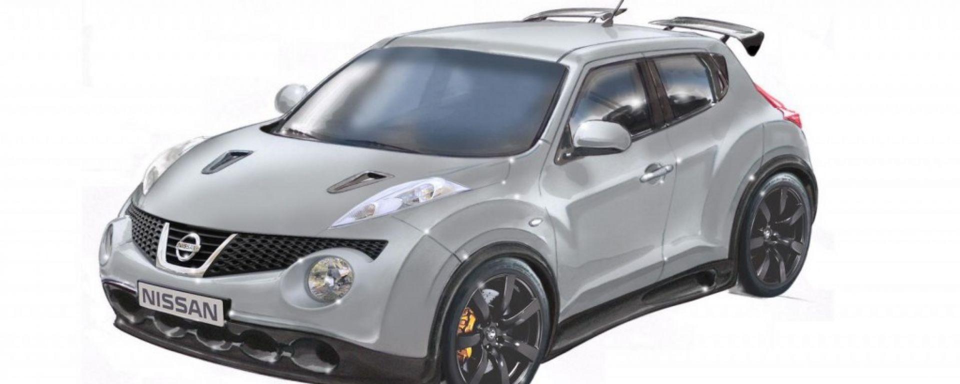 Nissan Juke-R, i bozzetti della versione di serie