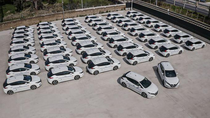 Nissan Leaf alla Guardia Costiera: 50 auto elettriche