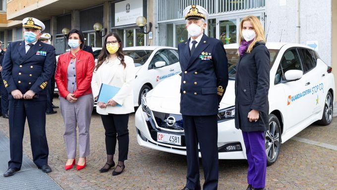 Nissan Leaf alla Guardia Costiera: la cerimonia di consegna