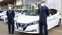 Nissan Leaf alla Guardia Costiera: un momento della cerimonia