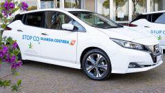 Nissan Leaf alla Guardia Costiera: una delle auto consegnate