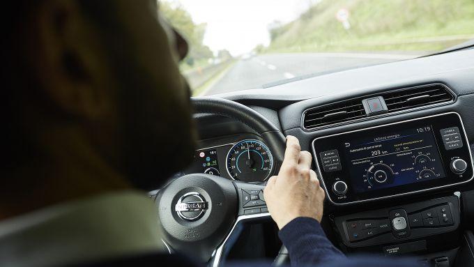 Nissan Leaf e+, nuovi servizi di bordo